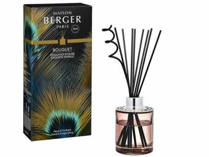 6181 Aroma difuzér Etincelle s vůní Intenzivní třpyt 115 ml, růžové dřevood Maison Berger Paris