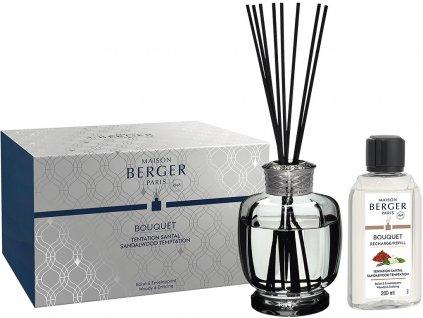 6225 Aroma difuzér Belle Epoque s vůní Pokušení santalového dřeva 200 ml, šedýod Maison Berger Paris