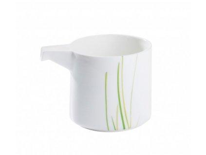 Mléčenka Quadro round 200 ml GRASS - bílá/zelená - by inspire