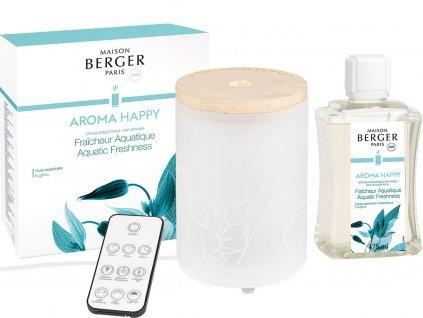 7009 Elektrický difuzér Aroma Happy a náplň Svěžest vody 475mlod Maison Berger Paris