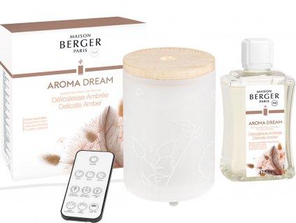 7011 Elektrický difuzér Aroma Dream a náplň Jemná ambra 475 mlod Maison Berger Paris
