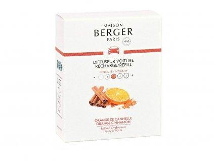 6435B Keramická náplň vůně do auta Pomeranč a skořice, 2 ksod Maison Berger Paris
