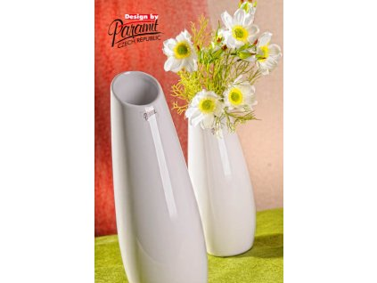 12098 36W LAKE porcelánová bílá váza 36 cm od Paramit