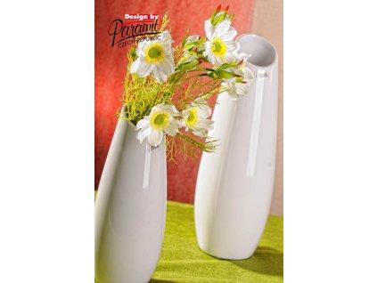 12098 26W LAKE porcelánová bílá váza 26 cm od Paramit