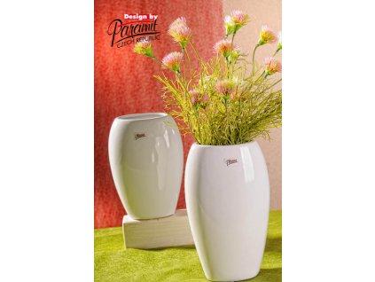 12099 24W Oreo bílá porcelánová váza 24 cm od Paramit