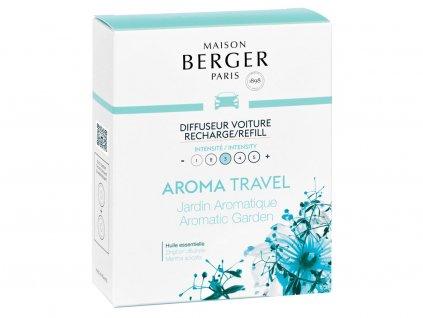 6439 Keramická náplň vůně do auta Aroma Travel - Bylinková zahrádka, 2 ksod Maison Berger Paris
