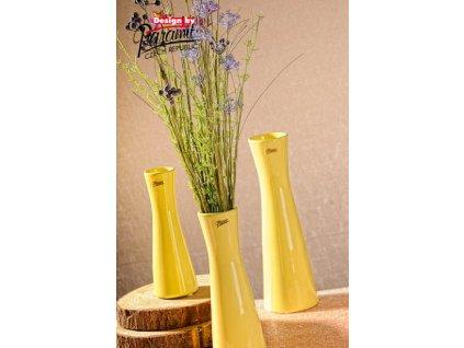12095 20Y Váza Inka 20 cm žlutá