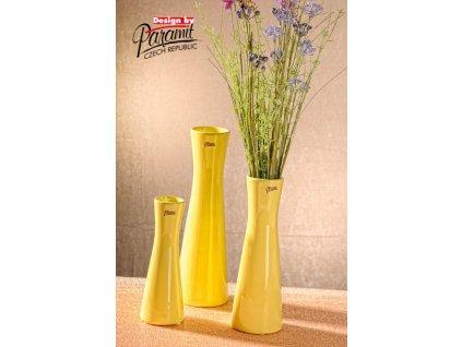 12095 25Y Váza Inka 25 cm žlutá