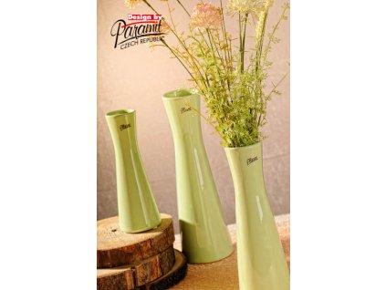 12095 30G Váza Inka 30 cm zelená