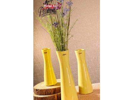 12095 30Y Váza Inka 30 cm žlutá
