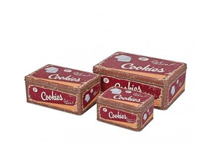 67279 - Sada 3 ks dóz na sušenky retro, hnědá - Zassenhaus