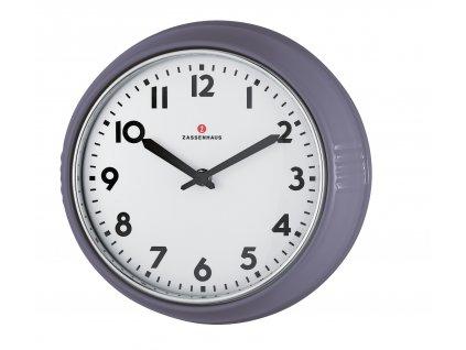 072983 - Retro nástěnné hodiny světle šedé 24 cm - Zassenhaus