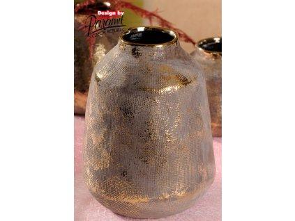 426 24 Váza Ambra 24 cm se zlatou patinou