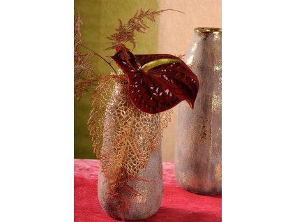 Ambra vázase zlatou patinou 27 cm vysoká