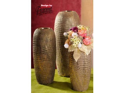 429 27 Váza Tenerife 27 cm se zlatou patinou