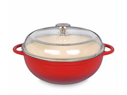 0402601428 - Litinový hrnec s poklicí MARMITE PROVENCE červený 28 cm - Küchenprofi