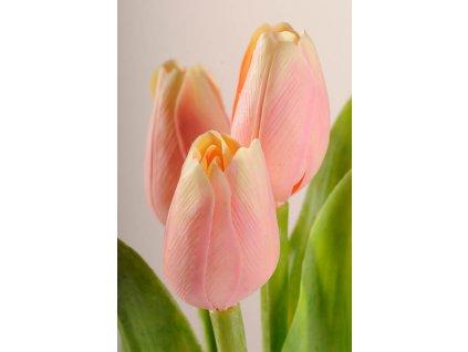 107A Umělý tulipán broskový 40 cm