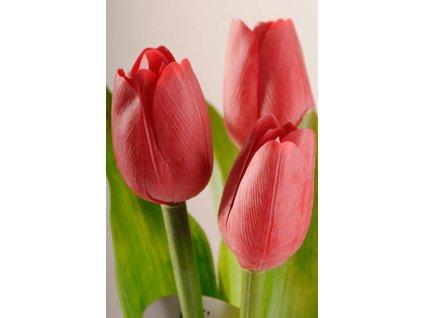 107R1 Francouzský umělý tulipán červený 40 cm