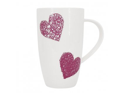 Hrnek 600 ml - HEARTS D