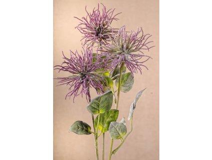 F225 L Umělá květina XANTHIUM fialová 80 cm