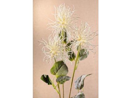 F225 W Umělá květina XANTHIUM bílá 80 cm