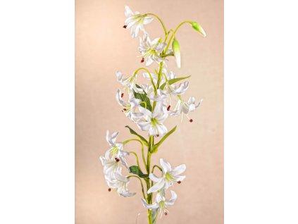 F216 W Umělá mini lilie bílá 82 cm
