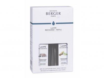 23968 NÁPLně DO KATALYTICKÉ LAMPY Bílý čaj a Bavlněná péče 2x250 ml od Maison Berger Paris