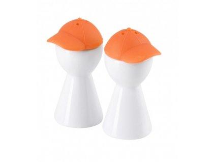 Set pepř/sůl 9 cm bílá/oranžová - by inspire