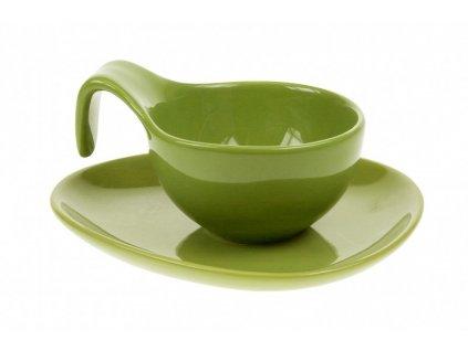 Šálek s podšálkem 150 ml zelená - by inspire