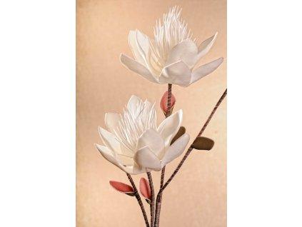Umělá květina bílá 74 cm