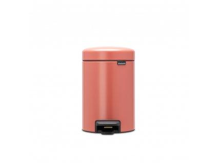 304309 Pedálový koš NewIcon 3 l terakota růžová od Brabantia