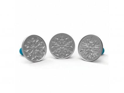 01275 Razítka na sušenky Frozen sněhové vločky 7,5 cm 3 ks
