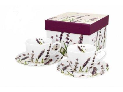 Lavender šálek s podšálkem 90 ml 2 ks od Duo