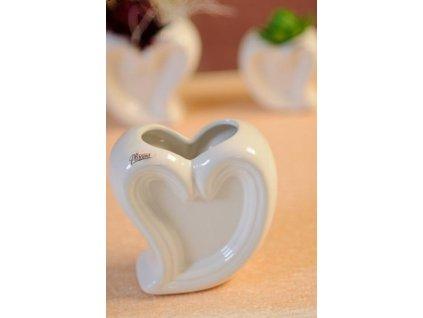 13024 15W Srdce miska bílá 15 cm od Paramit