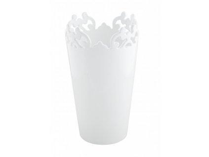 Váza Vločka 15 x 15 x 25 cm bílá - by inspire