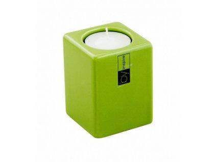 Svícen Quadro 8 cm zelená - by inspire