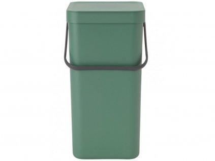 129803 Koš 12 l na tříděný odpad Sort and Go zelený od Brabanita s rukojetí