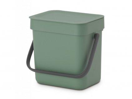 129841 Koš na tříděný odpad Sort and Go 6 l zelený od Brabantia velká fotka
