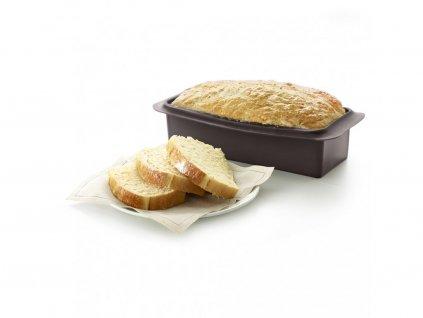2410525M10M017Forma na celozrnný chleba z platinového silikonu od Lékue 1230 ml