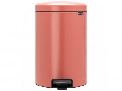 304347 Pedálový odpadkový koš o objemu 20 l v krásné terakotě růžové barvě od Brabantia