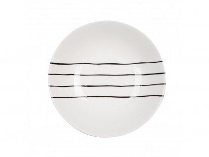 Talíř na polévku 21 cm Linky - GRAFICO