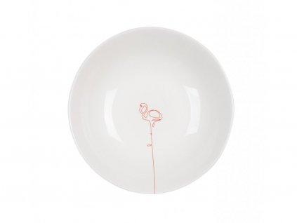 Talíř na polévku 21 cm - FLAMINGO červený