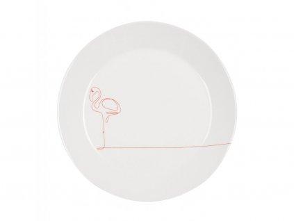 Jídelní talíř 26,5 cm - FLAMINGO červený