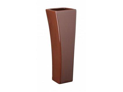 Váza quadro V 9 x 29 cm hnědá - by inspire