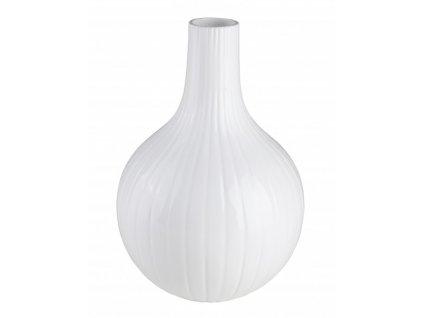 Váza cibule malá 19 x 19 x 28 cm bílá - by inspire