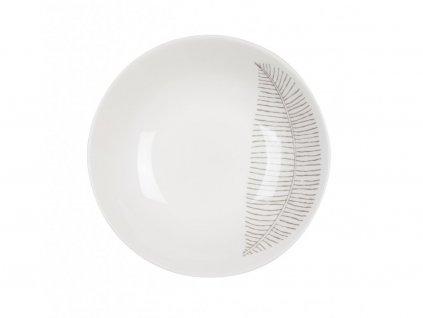 Talíř na polévku 21 cm List - LINES
