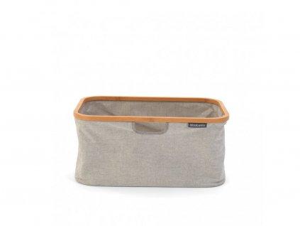 118180 Skládací košík na prádlo 40 l šedý od Brabantia boční pohled
