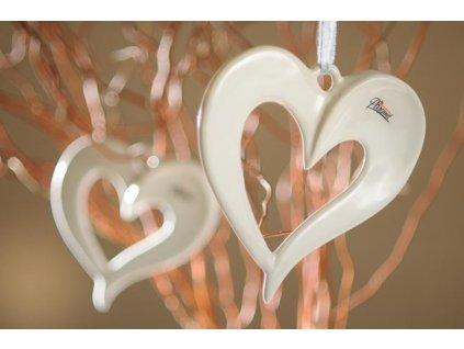 12080 19W AMORE srdce bílé 19 cm