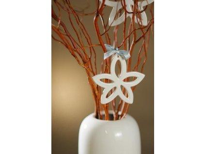 12087 10W Květ na zavěšení bílý