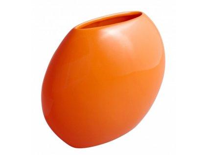 Váza even 24 x 9,5 cm oranžová - by inspire